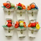 Antique Czech Glass Mini Miniature Flower Fruit Leaf Bouquet Lampwork