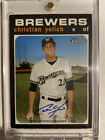 2020 Topps Heritage CHRISTIAN YELICH AUTO REAL ONE AUTOGRAPH CARD BREWERS!!