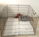 Dog Playpen 8 Panel 30 Inch Tall Kennel Puppy Pen Indoor Outdoor Folding Fence