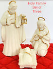 Lenox Holy Family Set Of 3 Nativity Figurines Ornaments NIB Retails 180