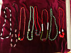 VINTAGE GLASS BEADS LOT OF 8 SOME ARE OLD MARDI GRAS BEADS