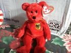 Ty Beanie Baby - GRAF VON ROT the Bear (Germany Exclusive)(8.5 Inch) MWMT