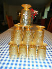 Anchor Hocking Glasses Milano Gold Amber Footed 5.5