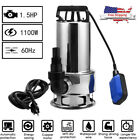 Submersible Sump Pump 1 2 2100GPH w 25ft Cord Water Sub Pump Empty Pool Pond