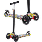 Kids Scooter Deluxe for Toddler Adjustable Kick Scooters Girls Boys 3 LED Wheels
