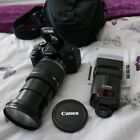 Canon EOS 600D with Canon 18-200mm IS Lens & Canon 430ex speedlite