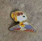 SKI SNOOPY Mountain Goggles Peanuts Yellow Red Beanie Hat Souvenir Lapel PIN