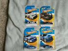 Hot Wheels 2012 BMW M3 GT2 FORD FALCON SUBARU WRX STI 4 car lot