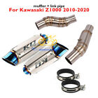 Motorcycle Exhaust Tip System Muffler Middle Pipe for Kawasaki Z1000 2010 2020