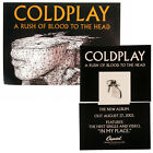 coldplay rush of blood to the head album release promotional sticker