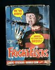 1988 Topps Fright Flicks Trading Cards Box 35 Sealed Wax Packs + 1 Open Pack