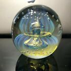 Eickholt Double Jellyfish Opalescent Paperweight with No Flaws