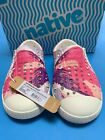 Native Jefferson Sneakers Slip on Shoes Pink Toddler C6 New in Box