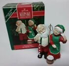 Vintage 1990 Hallmark Ornament - Popcorn Party Mr. and Mrs Claus