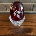 Fenton Ruby Red Holly Fairy Light Painted By Connie Ash