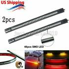 2x 48 LED Strip Tail Brake Light For Harley Street Tour Electra Road Glide King