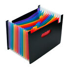 12 Pockets Expanding File Folder Upgrated Works Accordion A4 Document Organizer