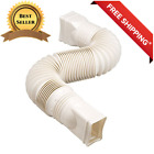 FLEXABLE DRAIN Downspout Extension Gutter Pipe for Home Rain Spout WHITE Build