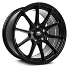 MST MT44 Wheels 17x9 (35, 5x114.3, 73.1) Black Rims Set of 4