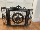 3 Paneled Fireplace Screen heavy duty LOCAL PICKUP ONLY