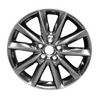 97879 Reconditioned OEM Factory Aluminum 18x7 Wheel Painted Smoke HyperSilver