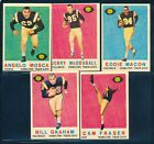 1959 TOPPS CFL FOOTBALL LOT 5 CARDS HAMILTON TIGER-CATS PLAYERS !! C84