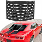 Rear Window Louvers for Camaro Chevy Cover 2010 2015 Scoops Sun Shade Windshield