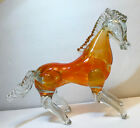 Vintage Napoleone Martinuzzi Murano Retro Hollow Bodied Blown Glass Horse Orang