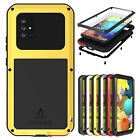 LOVE MEI Shockproof Metal Case Glass Cover For Samsung Galaxy A51 5G A71 5G A41