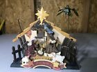 Musical Box Nativity Scene 10 Tall Works Beautiful Motion Figures Rock Baby
