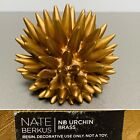 NATE BERKUS NB Urchin Object Paperweight Brass colored Resin Labeled 5dia 5h