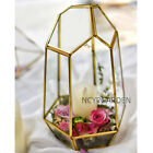 Indoor Planter Irregular Glass Geometric Display Handmade Flower Pot for Wedding