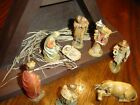 ANRI WOOD CARVED NATIVITY SET 3 SERIES ITALY