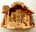 HAND CARVED OLIVE WOOD NATIVITY MANGER SCENE CHRISTMAS Approximately 9x 7x 5