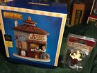 Lemax- THE STOUT SHACK & BARMAID Lighted Holiday Village /Carnival/Train