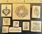 PSX Stampa Rosa Rubber Stamp Wreath Love lot of 9 Most New Craft Scrapbooking