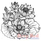 Flowers LOTUS Flower Cling Rubber Stamp by DEEP RED 4X505944 New