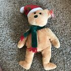 New Ty Beanie baby 2003 Holiday Teddy Bear with Santa hat Tagged