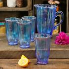 The Pioneer Woman Luster Blue 5 Piece Pitcher and Tumbler Set