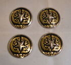 Conchos 1 1 2 Silver Star  Gold Design Chicago Screw Pack of 12 C39