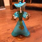 Large Murano Art Glass Figurine Woman Figure Sculpture Rare Collectable