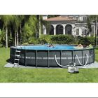 New Intex 20 x 48 Ultra XTR Frame Round Swimming Pool Set w Sand Filter Pump