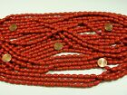 12 Strands 32 Nepal Handmade Coral Red Color Glass Beads Wholesale Bulk B 6