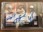 2017 Topps NOW Hall of Fame Triple Autograph Rodriguez Bagwell Raines