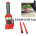 2 4 6 8 12 20 Ton Emergency Hydraulic Bottle Jack Lift Tool for Truck Bus Car US