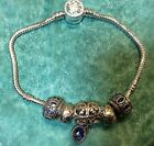Brighton A Touch of Blue or Sept Birth Stone 5 Charms bracelet 39 Reg 78