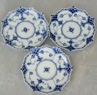Royal Copenhagen,Blue Fluted ,Full Lace, 3 saucers