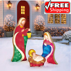 Outdoor 3Pc Nativity Scene Set LED Lighted Figures Christmas Decor 3 Piece