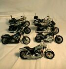 Maisto Set of 7 Harley Davidson Motorcycles Die Cast