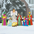 Deluxe Nativity Scene Yard Stakes Home Decor 7 Pieces